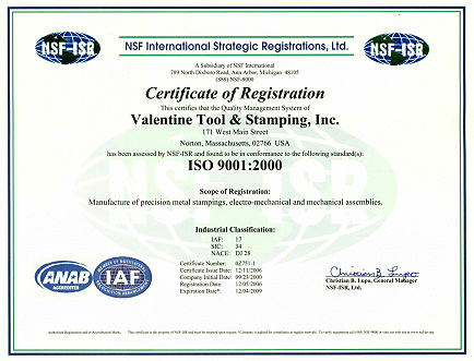 Precision Metal Stampings and Components from an ISO9001 Registered ...